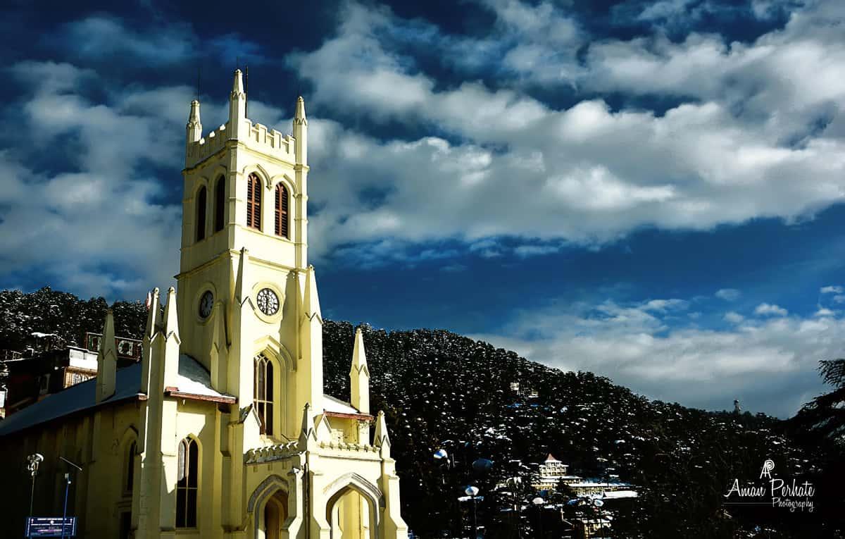 church at rijj shimla